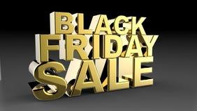 Black Friday sprzedaży 3D ilustracja Ilustracja Wektor