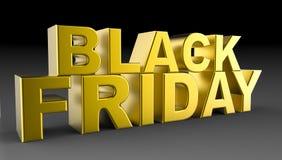 Black Friday sprzedaży 3D ilustracja Zdjęcia Stock