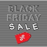 Black Friday sprzedaży 3d szablon Zdjęcia Royalty Free