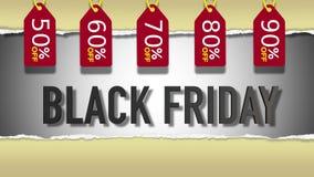 Black Friday sprzedaży 3D tekst Ilustracja Wektor