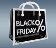 Black Friday sprzedaży ikon 3D cyfrowy rendering Zdjęcia Stock