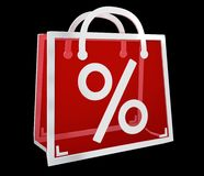 Black Friday sprzedaży ikon 3D cyfrowy rendering Zdjęcie Stock