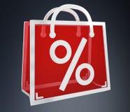 Black Friday sprzedaży ikon 3D cyfrowy rendering Ilustracja Wektor