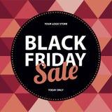 Black Friday sprzedaży karta Fotografia Royalty Free