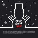Black Friday sprzedaży plakat Zdjęcie Stock