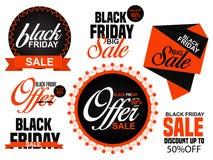 Black Friday sprzedaży sieci sztandar ilustracji