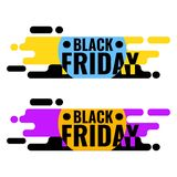 Black Friday sprzedaży sieci sztandar geometryczny graficzny projekt Obraz Royalty Free