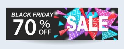 Black Friday sprzedaży sztandaru projekta szablon Obraz Stock