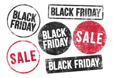 Black Friday stamps Stock Images