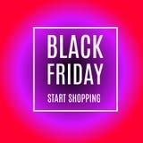 Black friday start shopping advertising banner in reddish purple. Version. Promotional flyer. Eps 10 vector stock illustration
