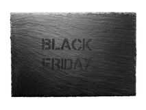 Black friday stencil on the dark gray slate Royalty Free Stock Photo