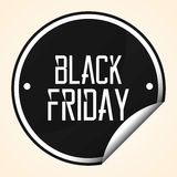 Black Friday Sticker Isolated On Background Stock Photography