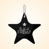Black Friday Sticker Isolated On Background Royalty Free Stock Photography