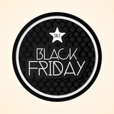 Black Friday Sticker Isolated On Background Stock Image