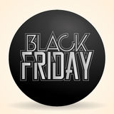 Black Friday Sticker Isolated On Background Royalty Free Stock Image