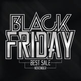 Black Friday Sticker Isolated On Background Stock Photo