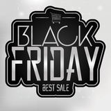Black Friday Sticker Isolated On Background Royalty Free Stock Images