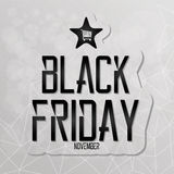 Black Friday Sticker Isolated On Background Stock Photos