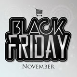 Black Friday Sticker Isolated On Background Royalty Free Stock Photos