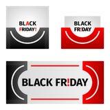 Black friday stickers set. Black red design. Eps 10 vector stock illustration