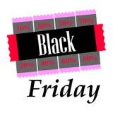 Black Friday stor försäljningsvektor Royaltyfri Illustrationer