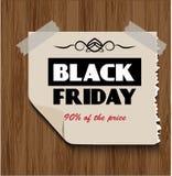 Black Friday su fondo di legno Immagine Stock Libera da Diritti