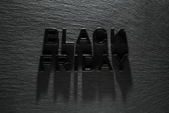 Black Friday su fondo scuro fotografia stock libera da diritti