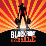 Black Friday Super Sale background Royalty Free Stock Photography