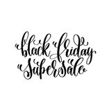 Black friday super sale - black ink hand lettering inscription Royalty Free Stock Photo