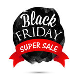 Black Friday, Super Sale Poster, Banner or Flyer. Royalty Free Stock Photo