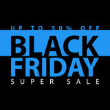 Black friday super sale poster. Clearance mega discount flyer template. Big special offer season. Vector digital shop banner illus Stock Photo
