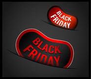 Black Friday Super Sale promotional Stick banners. For your flyer, marketing posters, promotional materials and printed flyers Stock Images