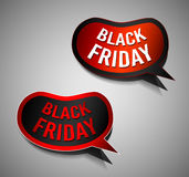 Black Friday Super Sale promotional Stick banners. For your flyer, marketing posters, promotional materials and printed flyers Stock Photos