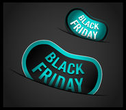 Black Friday Super Sale promotional Stick banners. For your flyer, marketing posters, promotional materials and printed flyers Royalty Free Stock Images