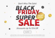 Black Friday Super Sale vector illustration Royalty Free Stock Image