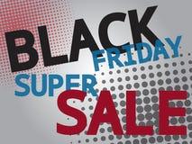 Black friday super sale, wording on gray background Stock Image