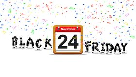 Black Friday-Tag lizenzfreie abbildung