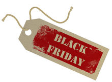 Black Friday tag Stock Image