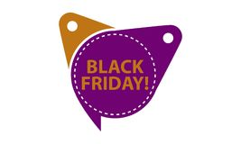 Black Friday-Tag-Schablone lokalisiert Stockfotografie