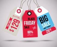 Black Friday tags Stock Image