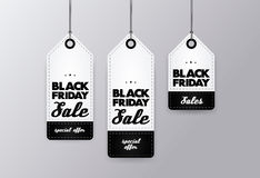 Black Friday tags set. Sales EPS 10 vector Stock Photography