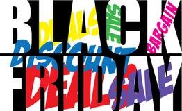 Black Friday-tekst Royalty-vrije Stock Afbeeldingen