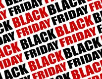 Black Friday Text Background. Vector Pattern. Royalty Free Stock Photo