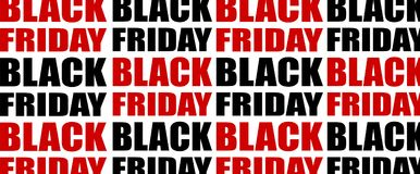Black friday text background. Vector pattern. Royalty Free Stock Photography