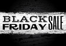 Black friday text on chalk backgound Royalty Free Stock Photos