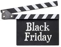 Black Friday text on clapboard Stock Photo