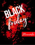 Black friday text royalty free illustration