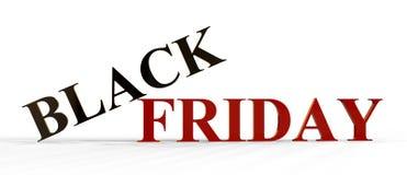 Black Friday-Text, Illustration 3D Lizenzfreies Stockbild