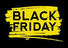 Black Friday Text on the Paint Splash Stock Photo