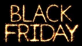 Black Friday Text Sparkler Glitter Sparks Firework Loop Animation